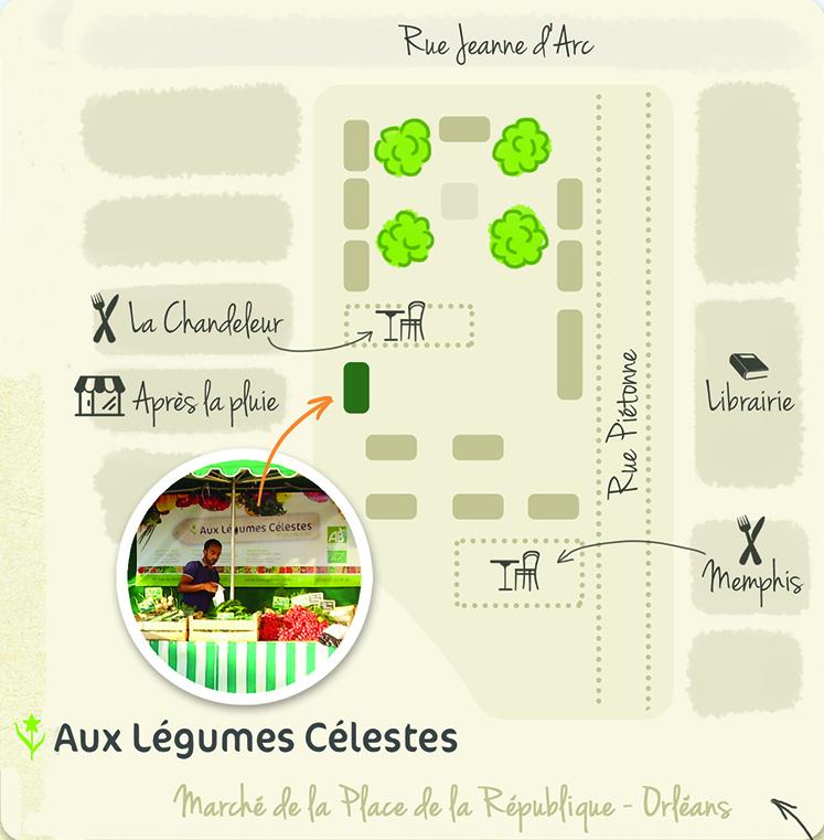 Plan du marché d'Orléans